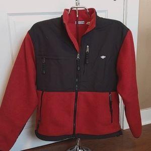 Heavy Fleece Black/Red Jacket SZ M